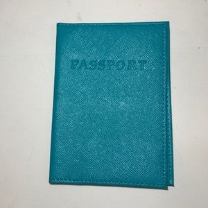 BNWT Abas Neiman Marcus passport holder blue